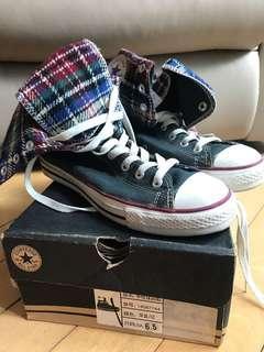 ⚡️🈹️98% new Converse女裝高筒 Tartan check sneakers