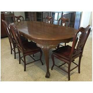 Vintage Merbau Hard Wood Dining Set