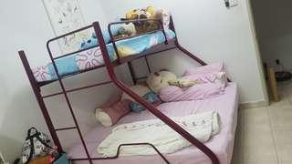 Double decker queen /single bed frame