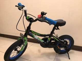 捷安特腳踏車12吋 9成新 (有輔助輪及車柱)