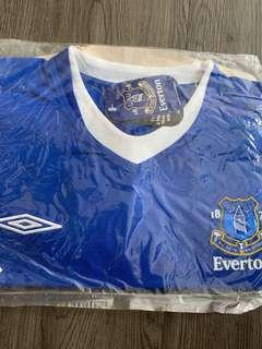 BRAND NEW EVERTON HOME JERSEY UMBRO SIZE XXL