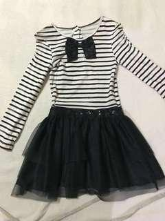 Mother care striped dress with big bow