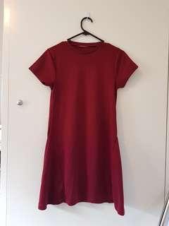Maroon casual dress