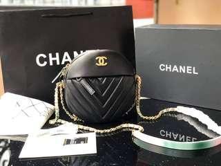 Chanel Round as Earth Chevron Bag