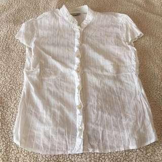 Authentic Debenhams White Cotton Top