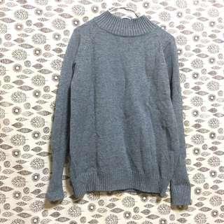🚚 全新 灰色顯瘦針織上衣 毛衣