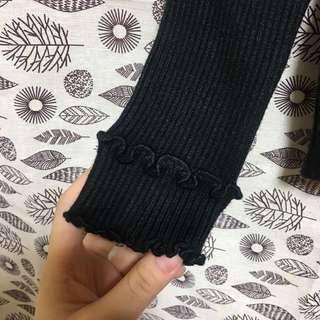 🚚 全新 花邊高領針織 毛衣