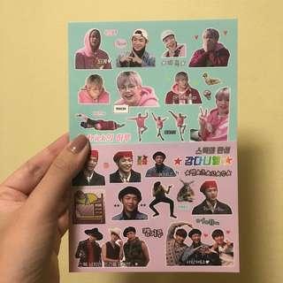 kang daniel stickers sheets