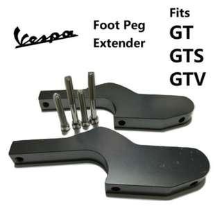 Vespa Foot Peg Extension/Extender ( Fits GTS300, GT200, GTV125 and more)