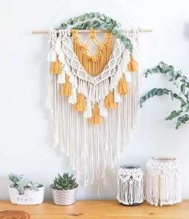 🚚 Wall Decor Wall Art Macrame Rope Art Hanging