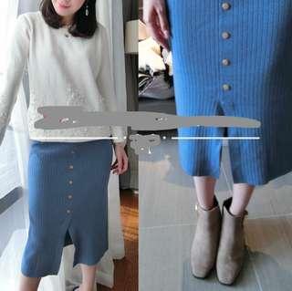 超靚 針織下身百搭裙 轉讓有黑色 /藍色 韓國風🇰🇷