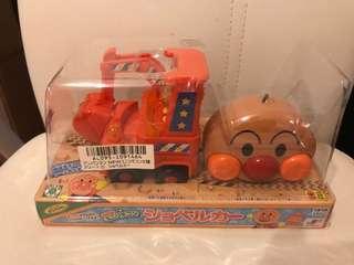 (清貨價)日本 麵包超人 Anpanman 可愛 紅色 有線 搖控車 掘泥車 玩具
