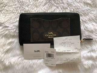 BN Authentic Coach Long Wallet