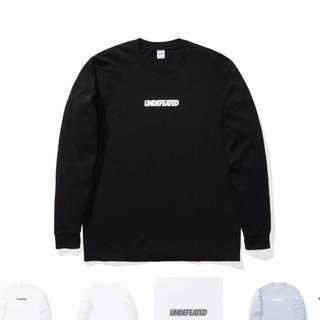 Undefeated logo long sleeve tee