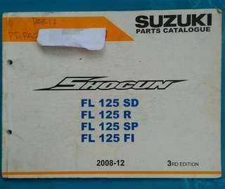 Buku part Catalog Suzuki Shogun 125