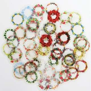 PVC Stickers - Flower Power Wreaths