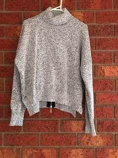 Speckled grey turtleneck sweater size XS