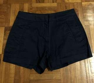 pull and bear navy blue shorts