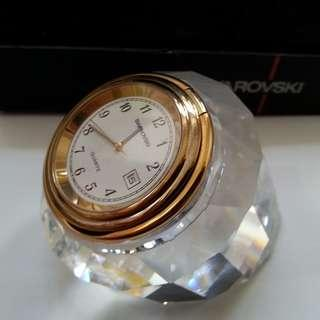 Very Rare Swarovski Crystal ATHENA Clock with original box and complete certificates