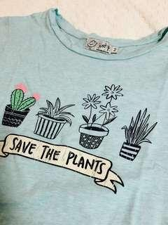 gingersnaps 'save the plants' shirt