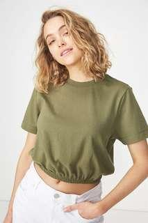 Cotton On Ivy Short Sleeve Waisted Top