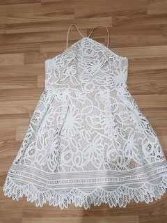 REDUCED SALE!! BNWOT LOVE BONITO HALTER LACE DRESS SIZE XL