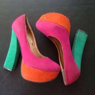 Multicolored High Heels
