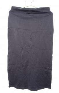 Long black skirt with side-slit