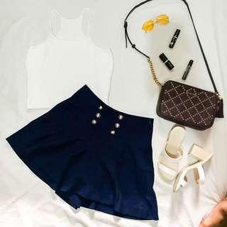 Dark blue short skirt