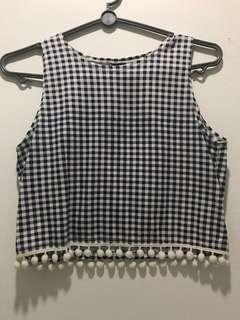 Checkered cropped