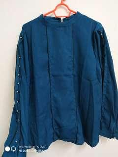 Navy Green Blouse Size xxxl (asian size)