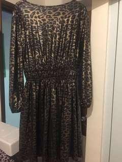 豹紋連身裙