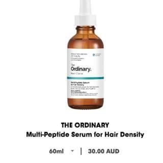 NEW The Ordinary award-winning Multi-peptide Serum for Hair Density