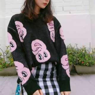 estherloveschuu bunny knit sweater