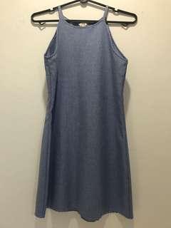 Cut in Blue Dress