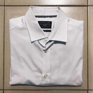 Plain White Long Sleeve Button Shirt