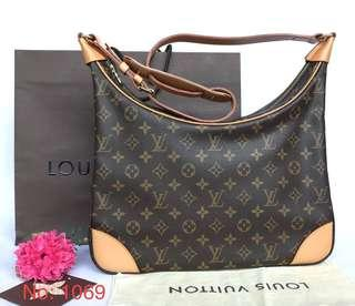 AUTHENTIC LOUIS VUITTON MONOGRAM BOULOGNE 35 SHOULDER BAG