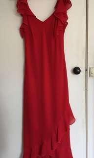 Red Frill Dress