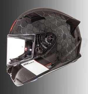 MT full face helmet snake carbon