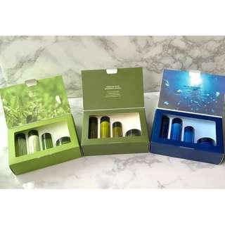 INNISFREE TRIAL KITS - GREEN TEA, OLIVE, JEJU SEAWATER OR PERFECT 9