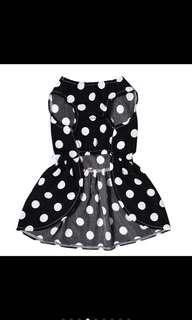 Dress Polka Dots Black White Cats Kitten