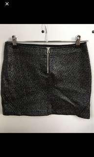 Wet-look skirt