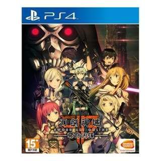 (極新下殺,要搶要快!!!) PS4 繁中 刀劍神域 奪命凶彈 Sword Art Online 奪命兇彈 中文版 遊戲