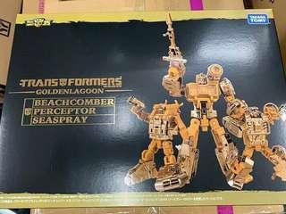 Transformers Golden Lagoon Seaspray Beachcomber & Perceptor