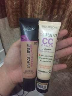 CC cream Bourjois X L'oreal infallible total cover