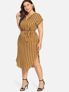 Plus Size Stripes Dress