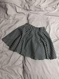 checkered skater skirt