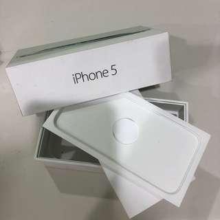 🚚 apple iphone5 原廠硬盒 原廠手機盒 原廠紙盒