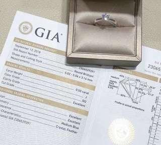 .50 carat diamond ring GIA
