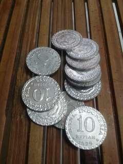 Uang Kuno 10 Rupiah 1979